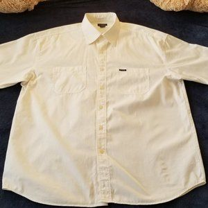 Guess Mens Short Sleeve XL White Shirt Two Pockets
